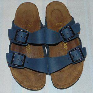 Birkenstock Blue Leather Sandals size 5/5.5 & 36EU